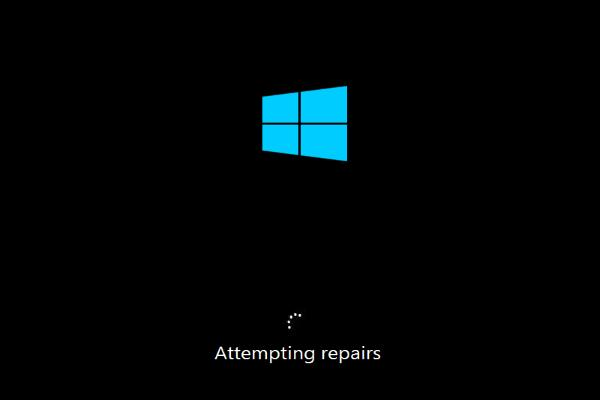windows 10 attempting repair