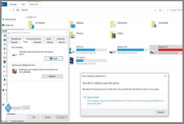 windows 10 disk scan