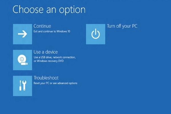 windows 10 recovery menu